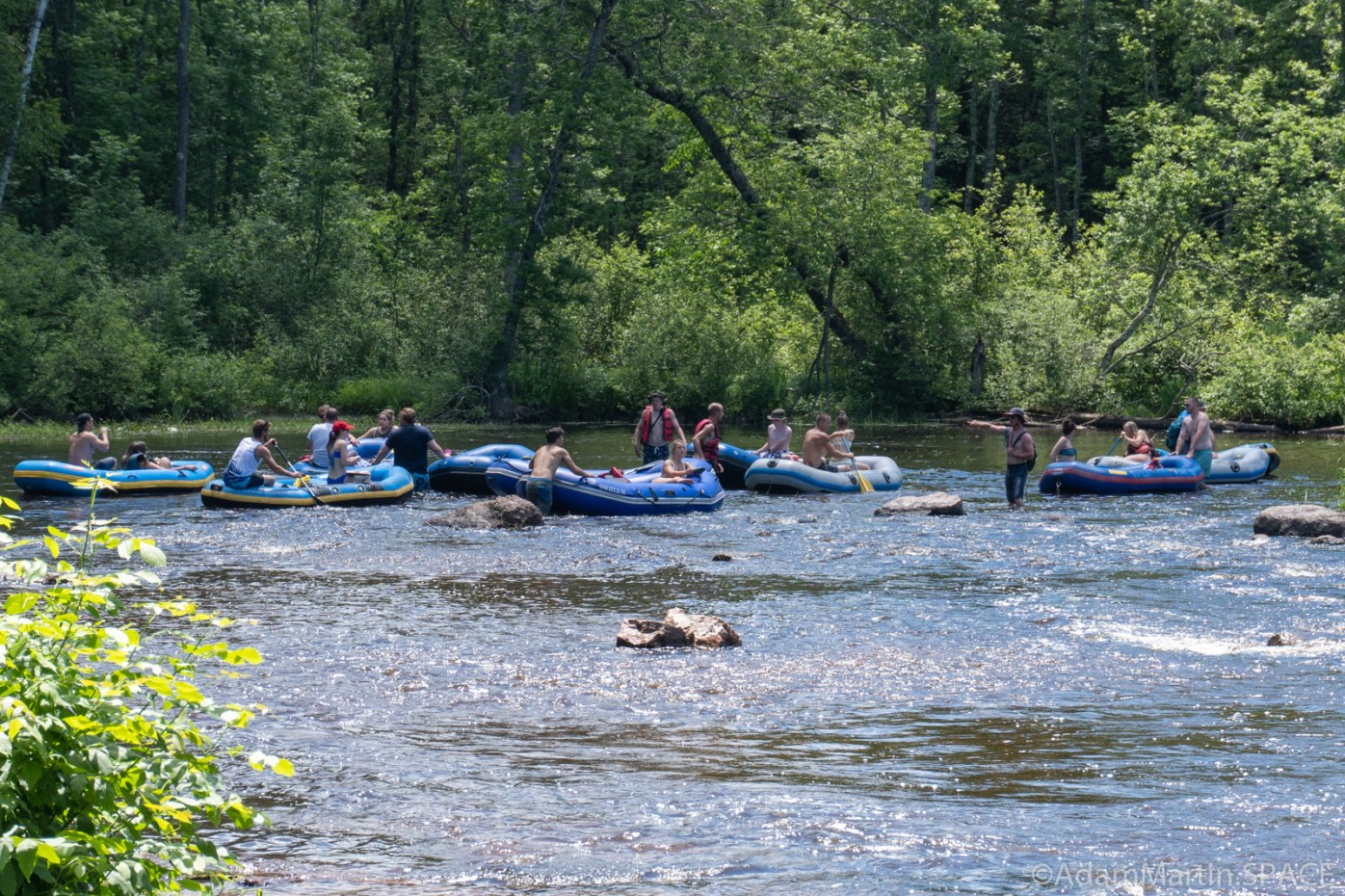 Group of rafters downstream from Sullivan Falls