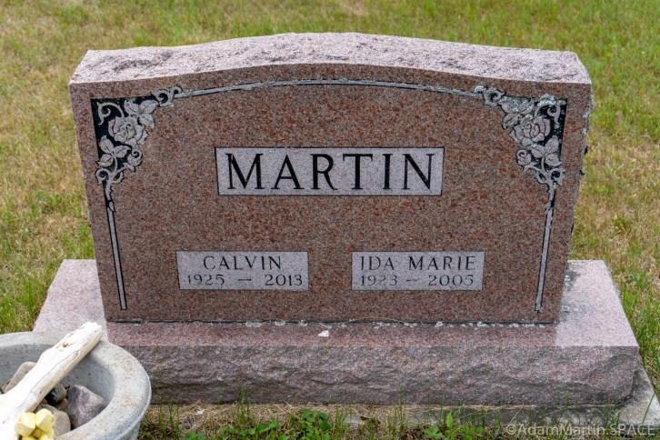 Martin Cemetery - Calvin J Martin Sr. headstone