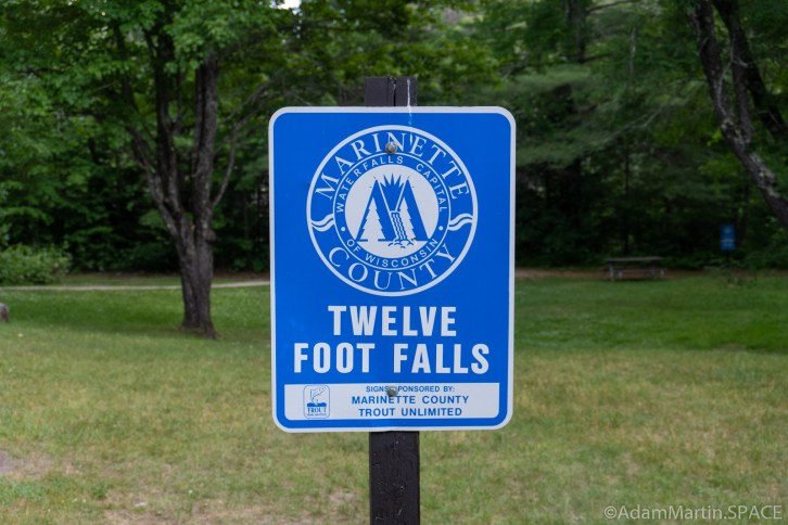 Twelve Foot Falls County Park - Sign to Twelve Foot Falls