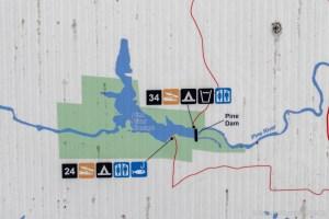 Breakwater Falls - Map near power plant