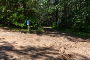 Four Foot Falls - Sandy parking area