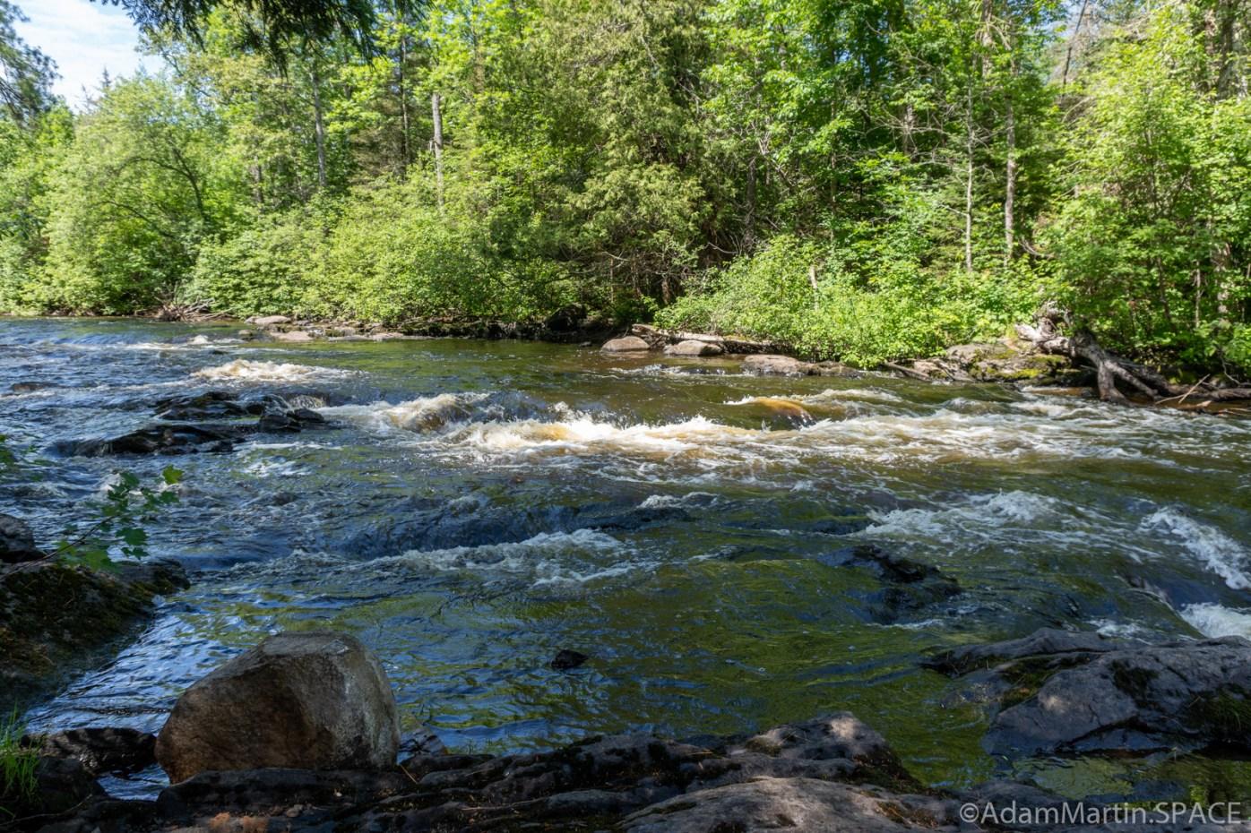 Washburn Falls - Upstream view