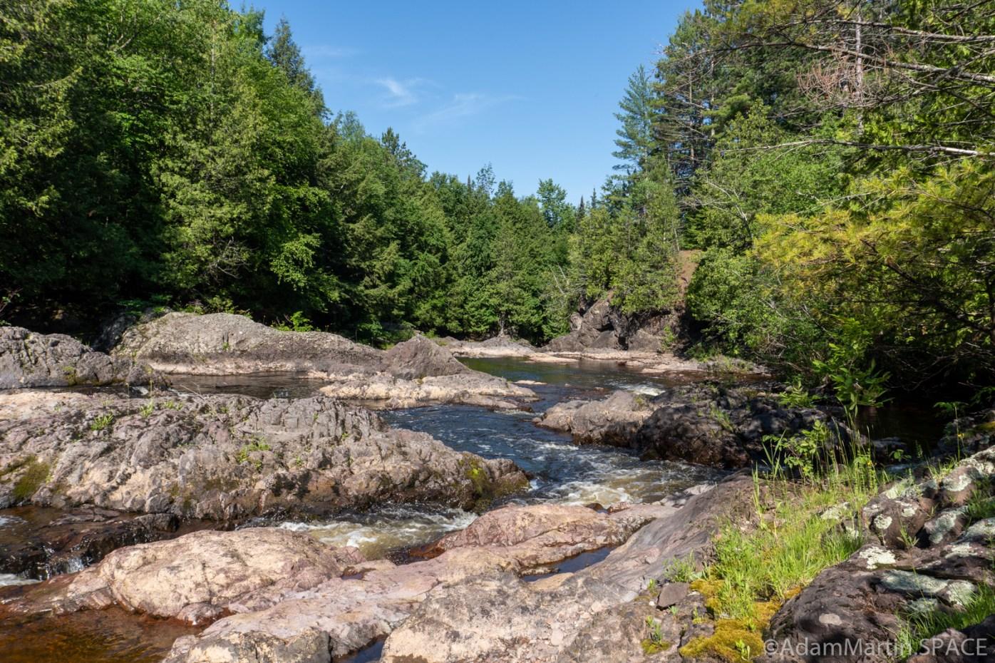 Potato River Dalles - Downstream views