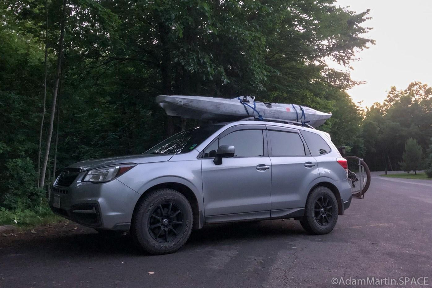 Copper Falls State Park - Subaru battle wagon