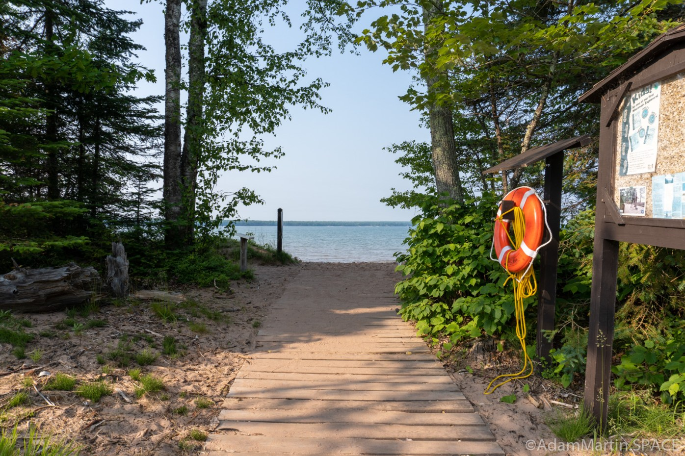 Big Bay State Park - Small spur trails lead to Barrier Beach