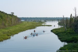 Big Bay State Park - Kayakers on the lagoon