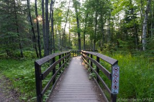 Big Bay State Park - Boardwalk Trail - Accessible ramp to trail