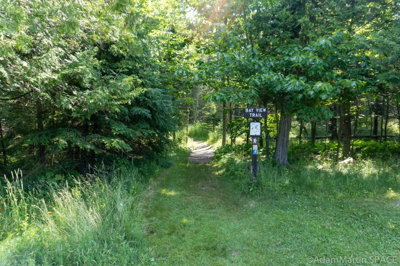 Big Bay State Park - Bay View Trail Head