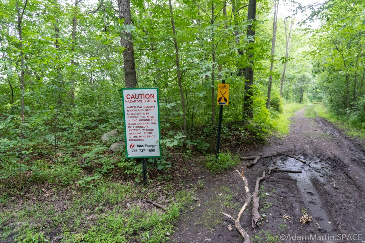 Lake Wissota Rapids - Trail following the canoe portage