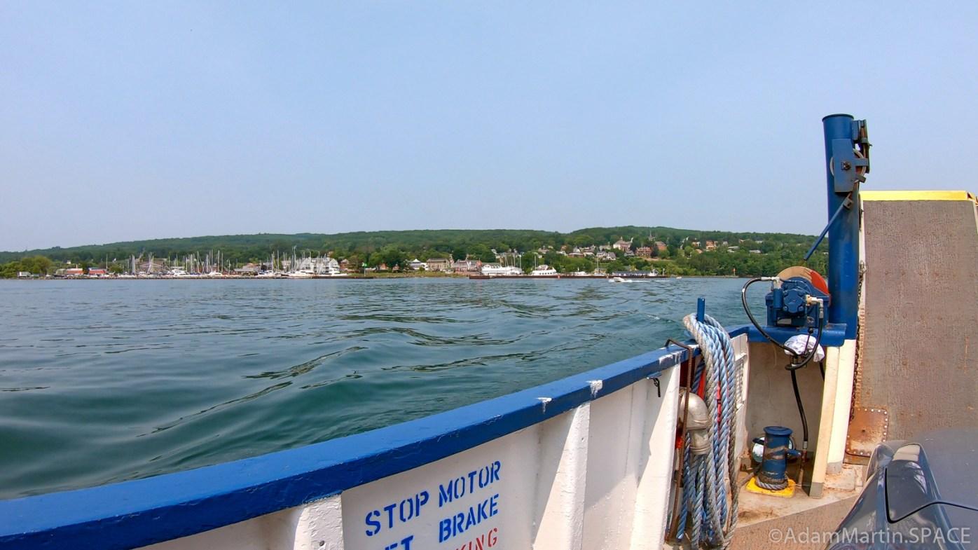 Madeline Island - Ferry leaving Bayfield
