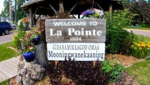 La Pointe Welcome Sign