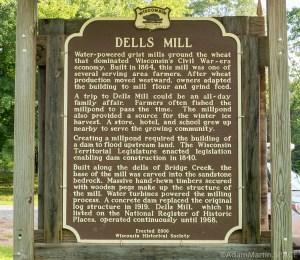 Dells Mill - Wisconsin Historic Society sign