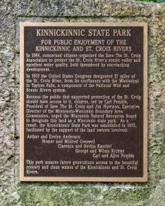 Kinnikinnic State Park - Historic Plaque