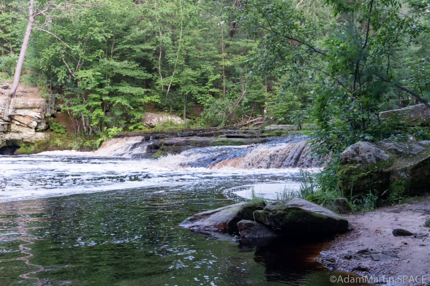 Swimming Falls - View from downstream