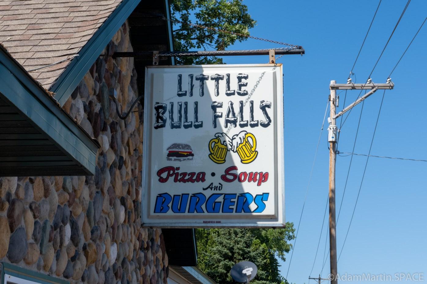 Little Bull Falls - Bar & Restaurant sign