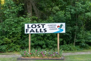 Lost Falls - Campground sign