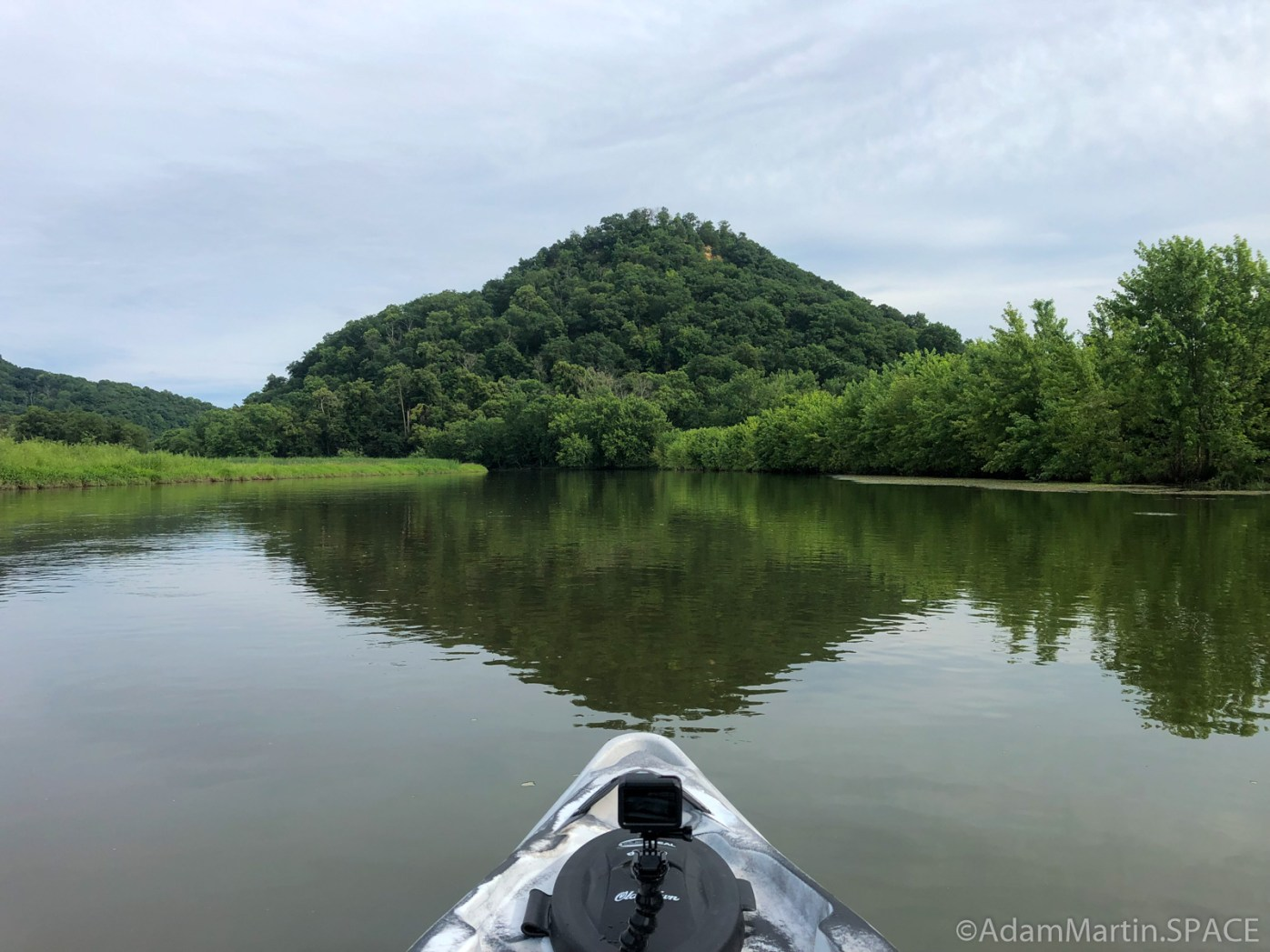 Perrot State Park - View of Trempeauleau Mountain while paddling Voyageurs Canoe Trail