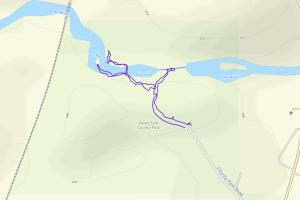 GaiaGPS hiking data @ Dave's Falls