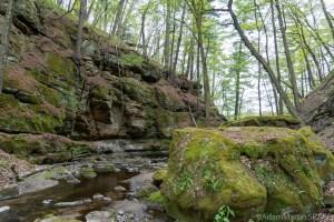 Durward's Glen - Tall rocky walls of the glen