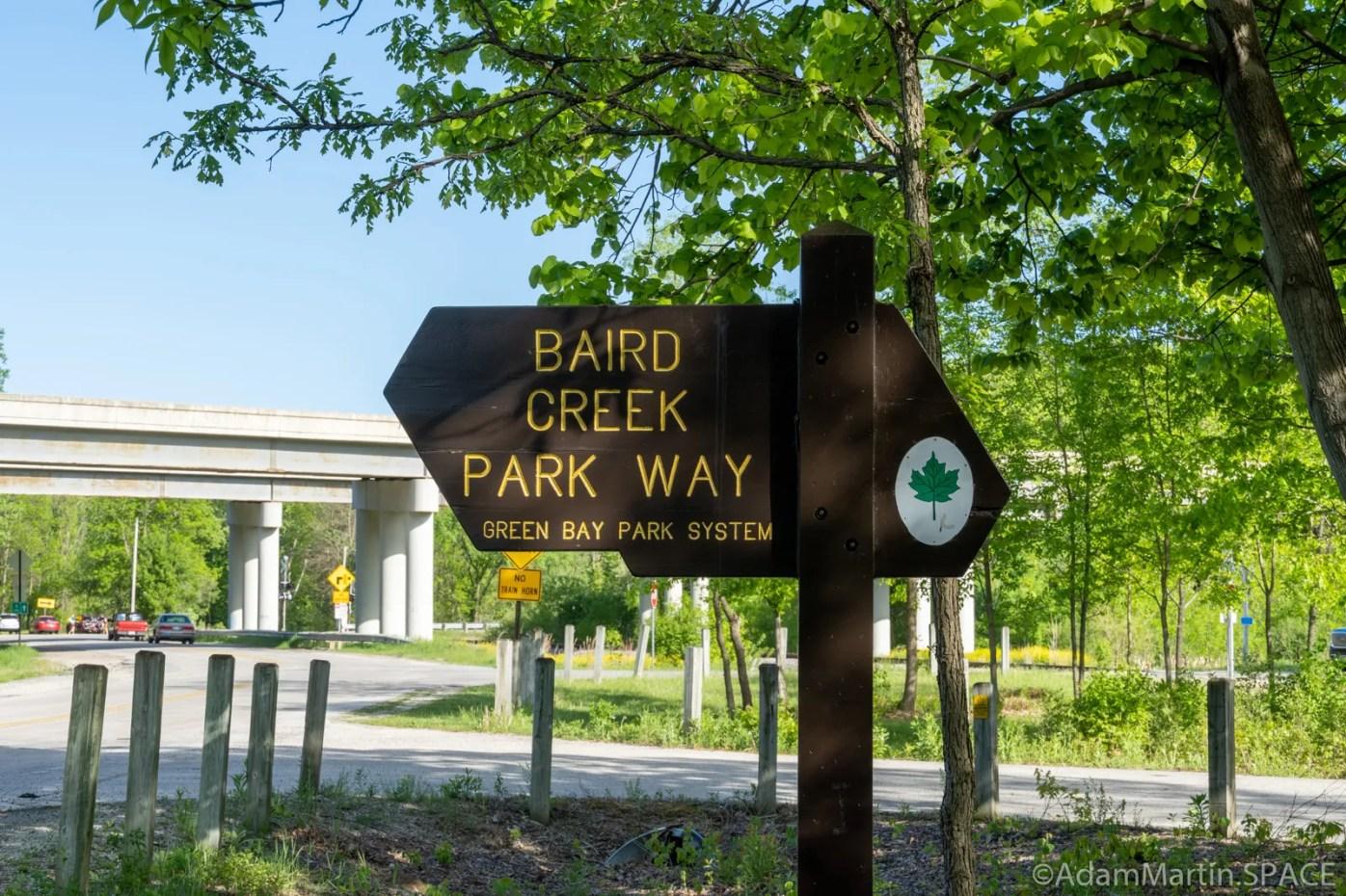 Baird Creek Park Way sign