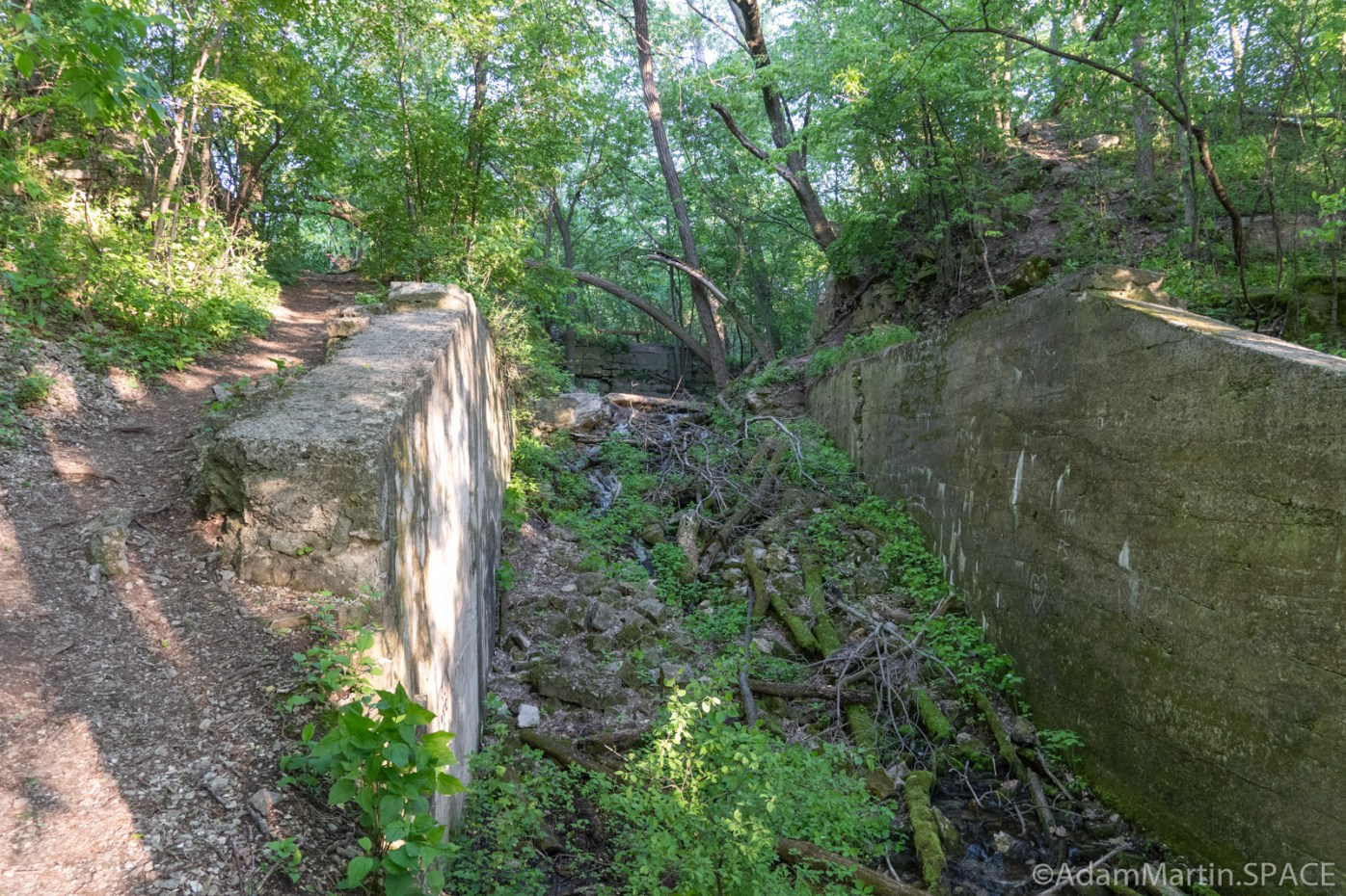 High Cliff State Park - Blocked views of Lime Kiln Falls (Upper)