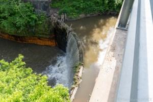 Douglas Mill Pond Spillway - View from above on Hogg Street bridge