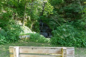 Red Cedar Waterfall - Bench overlooking the falls