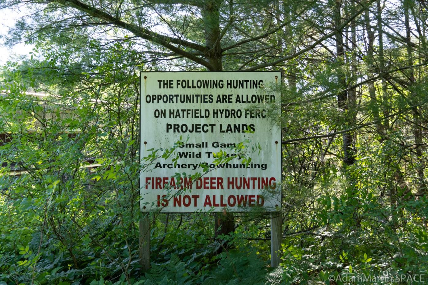 Black River Falls - Hwy K Rapids - Hatfield Hydro sign re: hunting