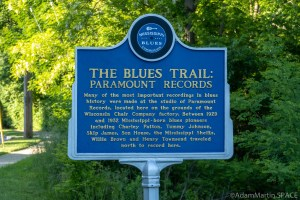 Paramount Records / Mississippi Blues Trail historical sign