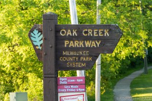 Oak Creek Parkway - Milwaukee County Park System sign
