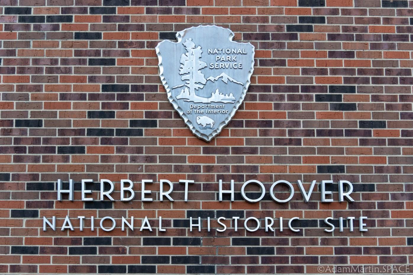 Herbert Hoover National Historic Site - NPS Building Sign