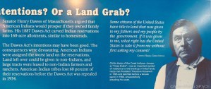Homestead National Historical Park - Chitto Harjo / Crazy Snake quote