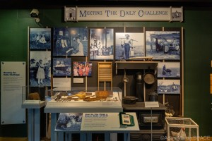 """Homestead National Historical Park - """"Meeting The Daily Challenge"""" display"""
