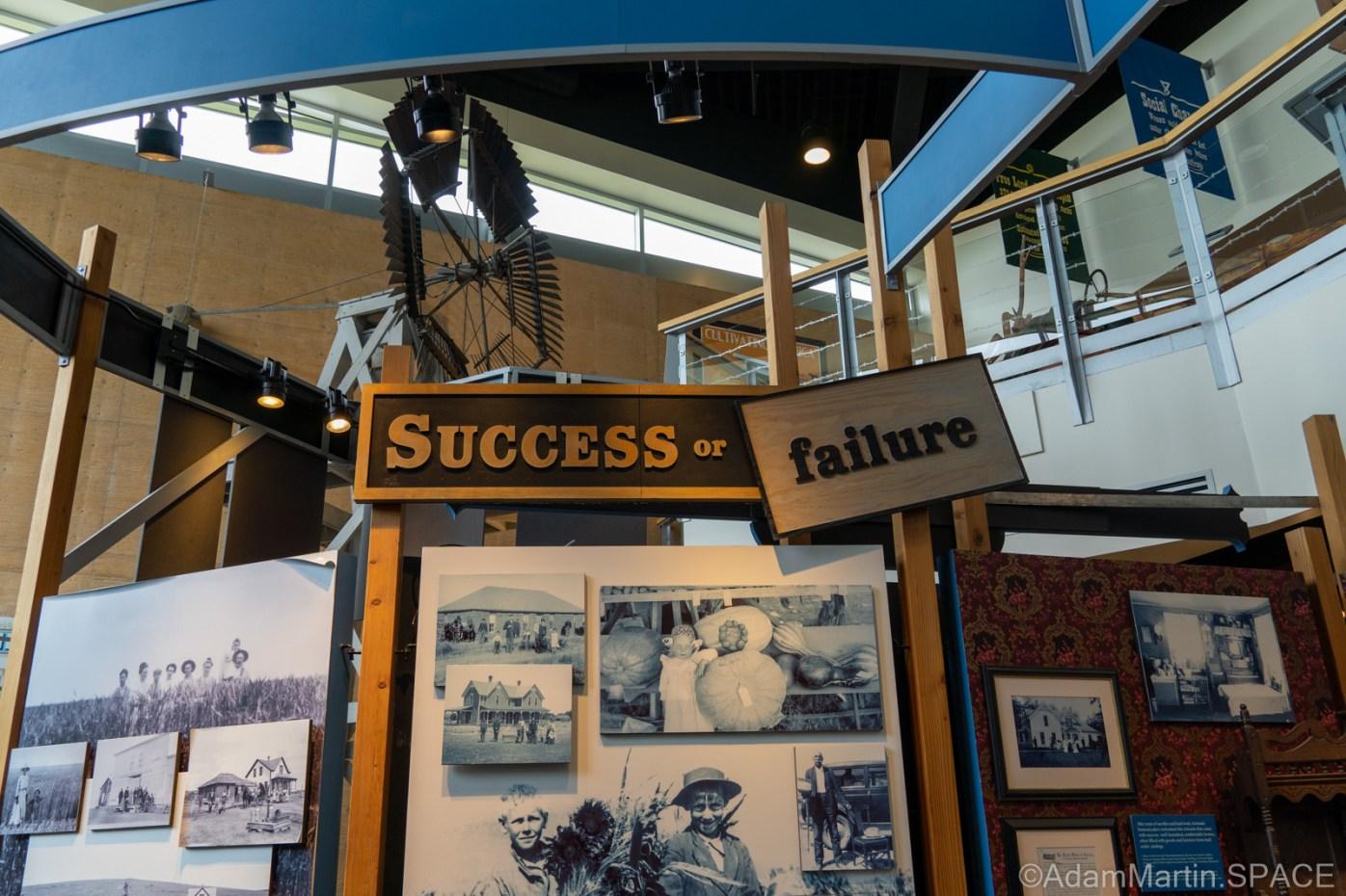 "Homestead National Historical Park - ""Success or Failure?"" display"