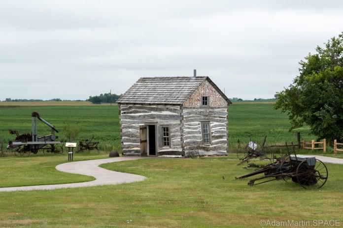 Homestead National Historical Park - George Palmer cabin exterior
