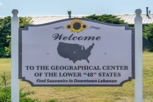Geographic Center of the Contiguous United States - Welcome sign