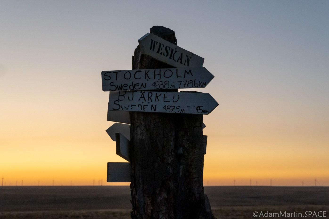 Mount Sunflower - Mile Marker Signs