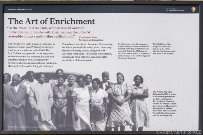 """Nicodemus National Historic Site - """"The Art of Enrichment"""" Sign"""