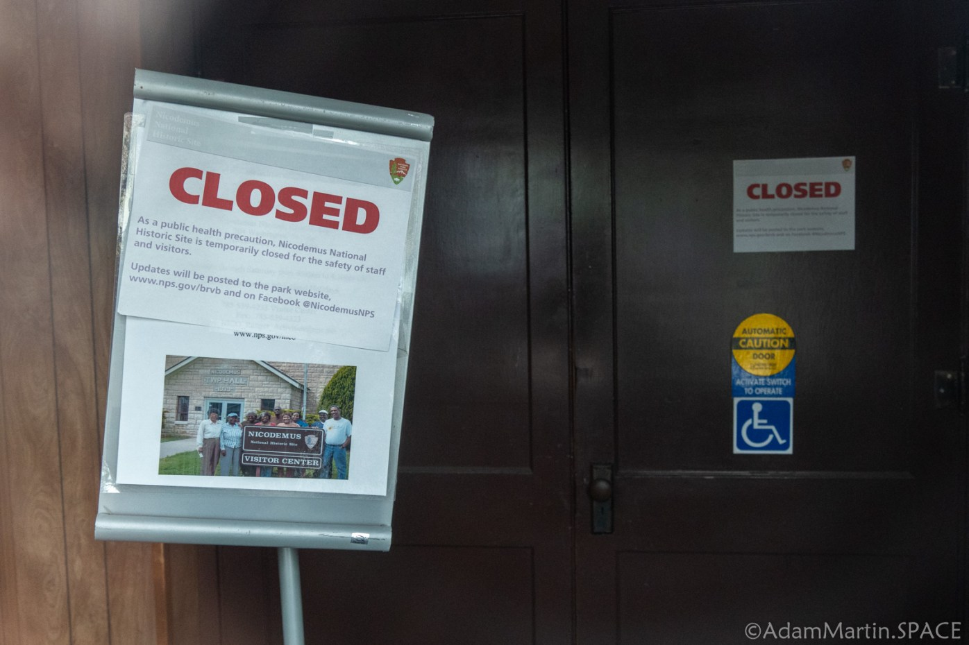 Nicodemus National Historic Site - Town Hall closed due to COVID-19