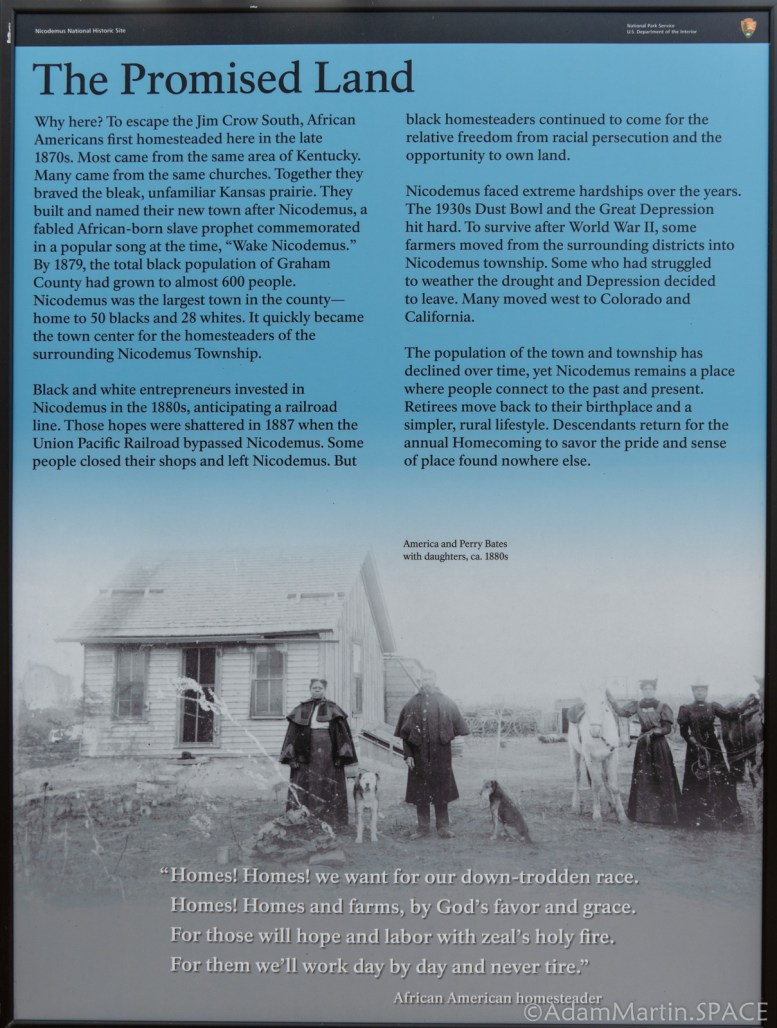 """Nicodemus National Historic Site - """"The Promised Land"""" Sign"""