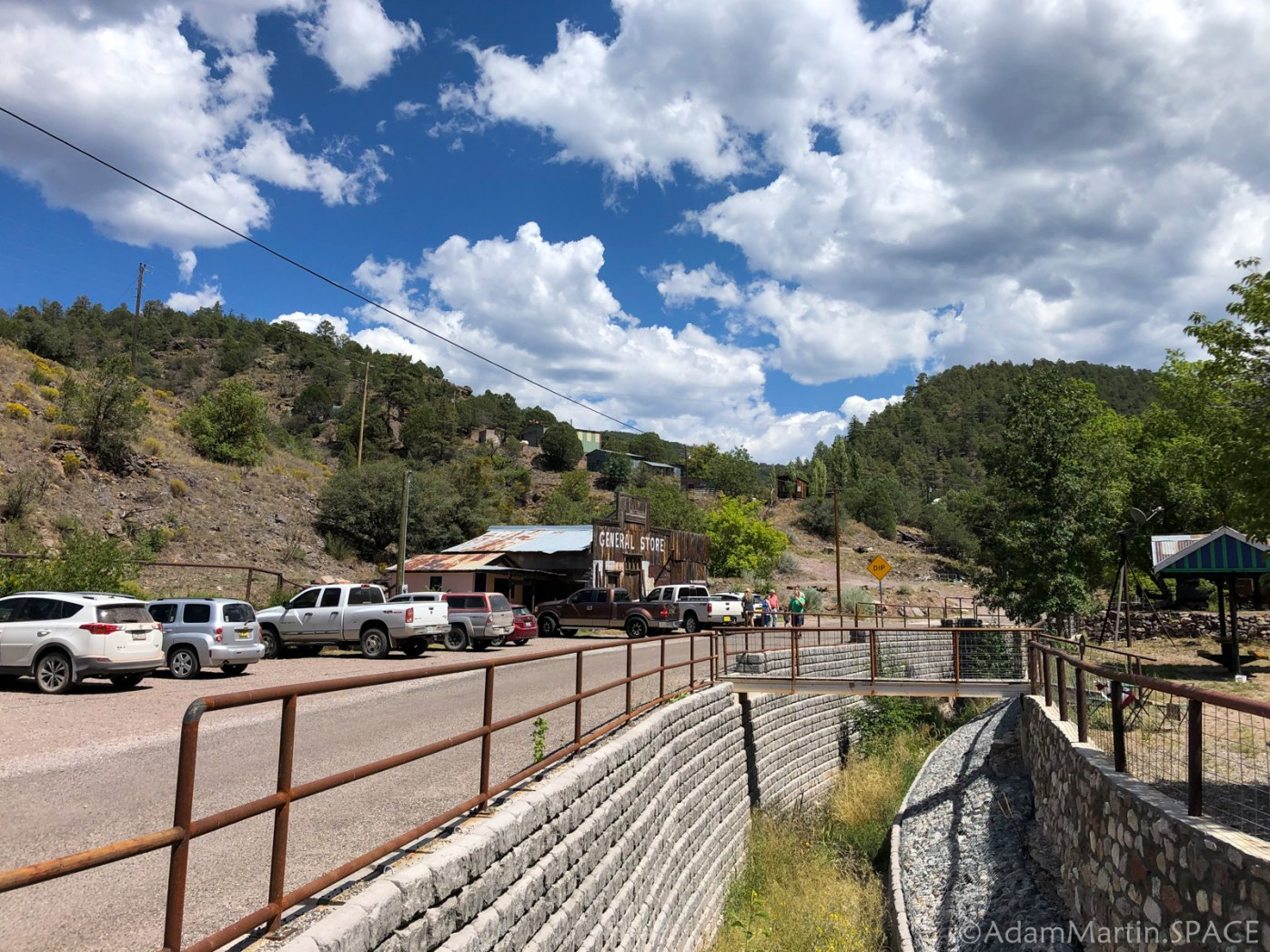 Mogollon, NM - General store & wide view of town