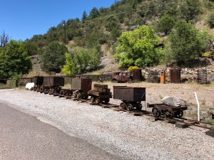 Mogollon, NM - Mining rail cars