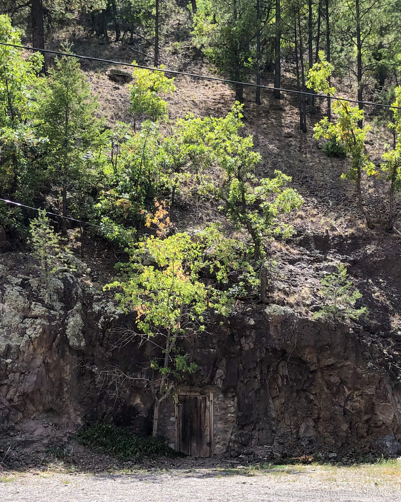 Mogollon, NM - Mine/Cave entry carved into the mountain