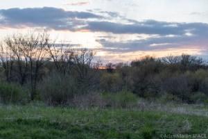 Sunset over Yellowstone Lake State Park / Wildlife Area during turkey hunt