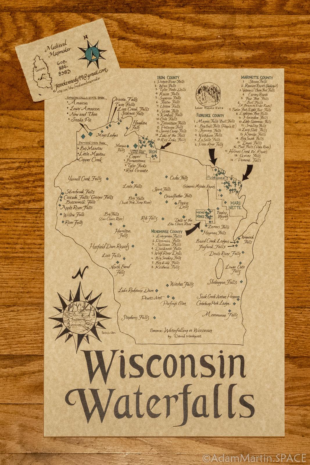 Wisconsin Waterfalls map by Jesse aka MedievalMapmaker