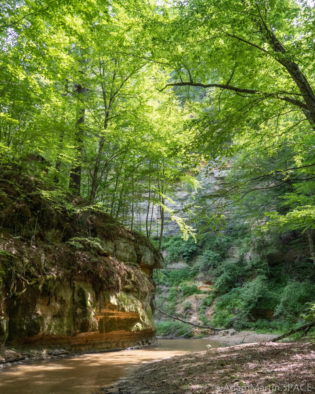 Hiking down Roaring Creek in Black River Falls, Wisconsin