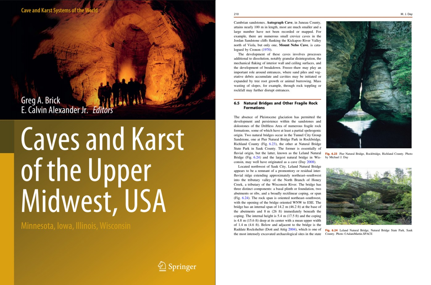 Caves and Karst of the Upper Midwest, USA: Minnesota, Iowa, Illinois, Wisconsin By Greg A. Brick and E. Calvin Alexander Jr.