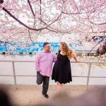 Cherry Blossoms at Peak Bloom Engagement: Tony & Nikki