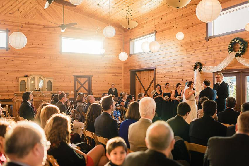 barn at klines mill wedding ceremony size by Washington DC Wedding Photographer Adam Mason