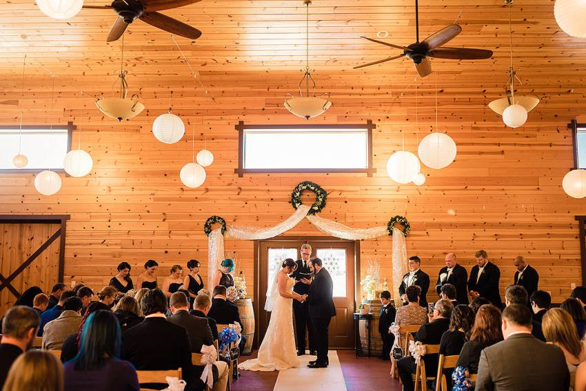 indoor wedding venue Harrisonburg Virginia by Washington DC Wedding Photographer Adam Mason